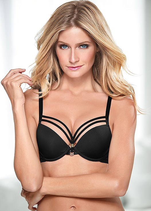 c2db79489df5c KISSABLE STRAPPY PUSH UP in Black