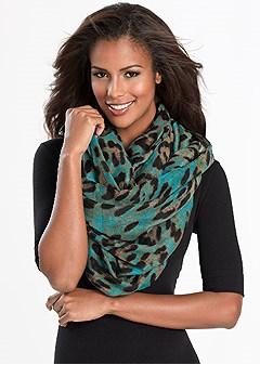leopard infinitiy scarf