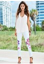 Alternate view Painted Floral Skinny Jeans