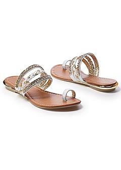 embellished sandal