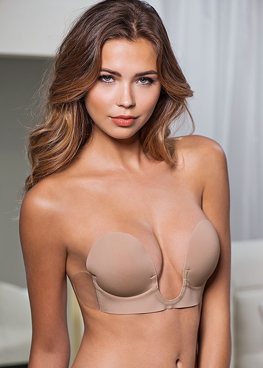 04347012cc CUPID BACKLESS U PLUNGE BRA in Nude