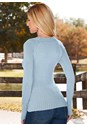 Back view Open Neck Sweater