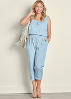 plus size jumpsuit with tie waist