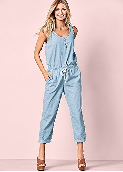 jumpsuit with waist tie