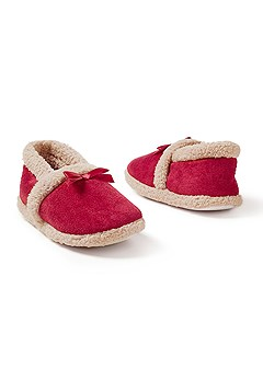 bow detail cozy slipper