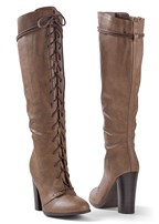 lace up tall boot