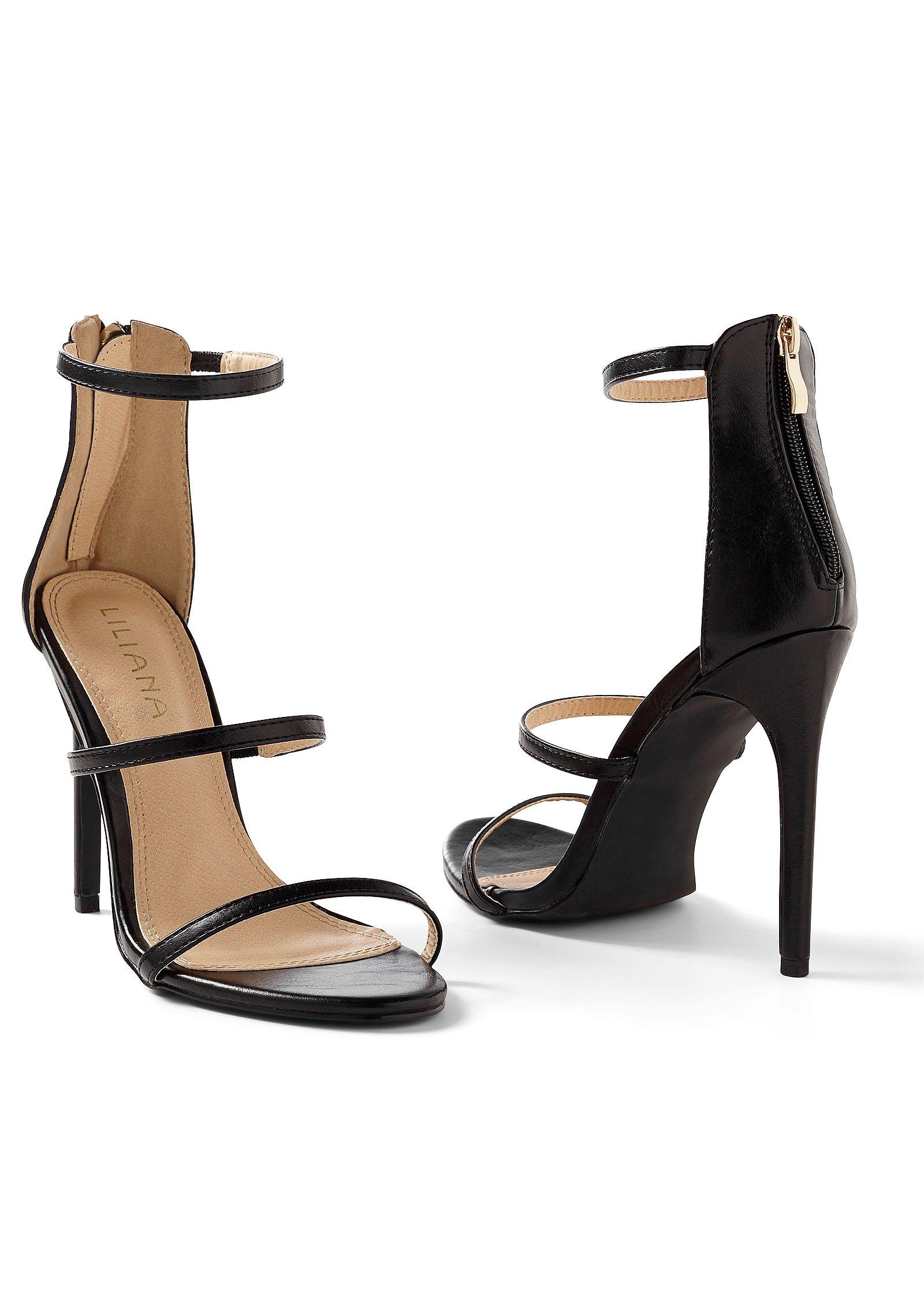 High Heel Strappy Sandals BlackVenus In n0XN8kOwP