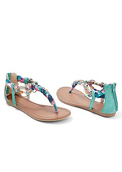 embellished rope sandal