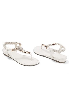 embellished stretch sandal