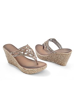 embellished wedge