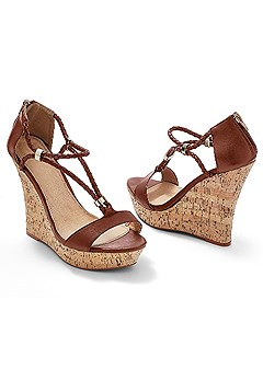 braided detail wedges