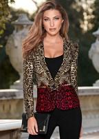 leopard multi color blazer