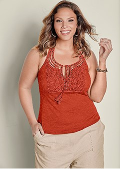 plus size crochet front halter top