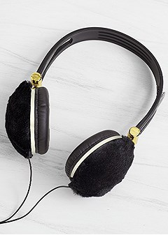 headphones with faux fur