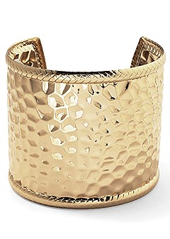 metal hammered cuff