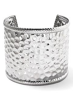 metal hammered cuff