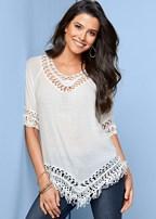 crochet fringe tunic
