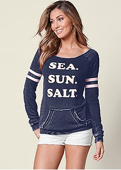 sea sun salt sweatshirt