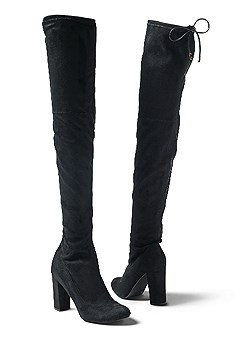 tie back over the knee boot