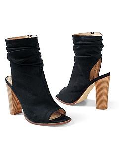 open heel bootie