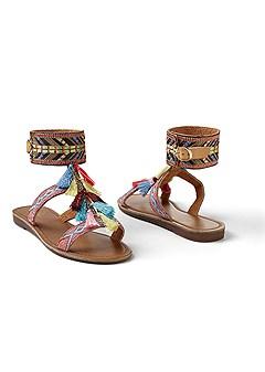 tassel embellished sandal