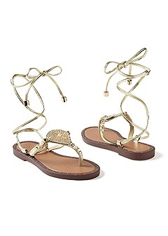 lace up gladiator sandal