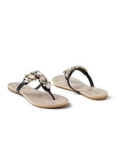 multi color stone sandal