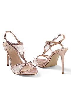 lace detail evening sandal