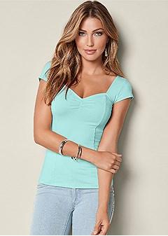 cap sleeve basic top