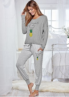 graphic jogger pajama set