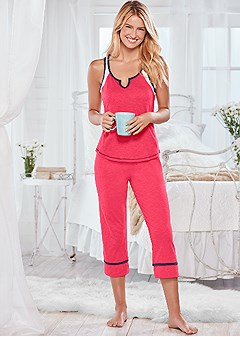 color block pajama set