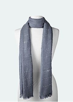 rhinestone detail scarf