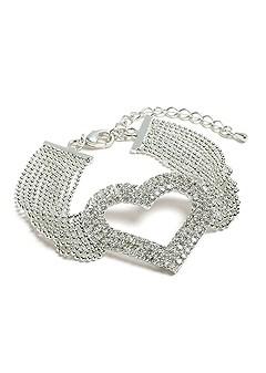 multi chain heart bracelet