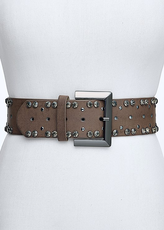 STUD DETAIL BELT,RUCHED DETAIL DRESS