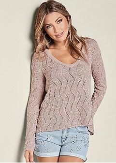 surplice back sweater