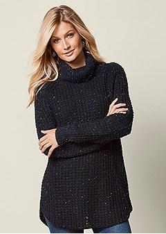 multicolored stitch sweater