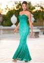 Front view Ombre Lace Long Dress
