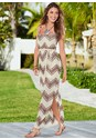 Front view Belted Maxi Dress