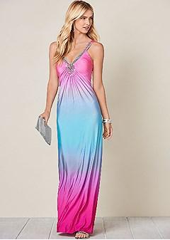 embellished ombre dress