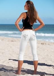 Front view Back Detail Capri Jeans