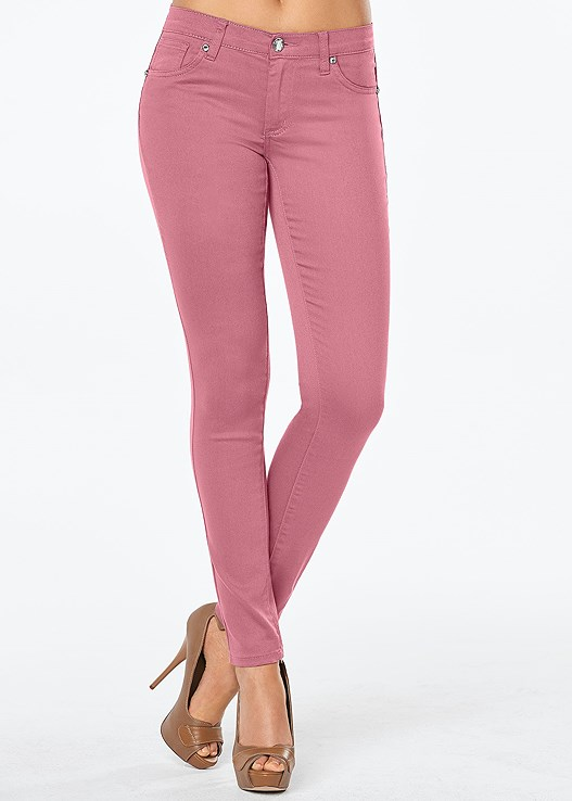 098bc9c9969 COLOR SKINNY JEANS in Dusty Rose