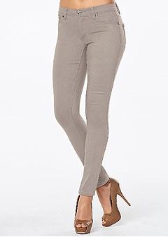 color skinny jeans