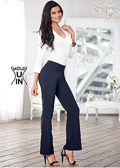 slimming pull on pants