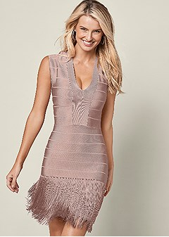 slimming fringe dress