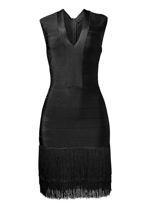 Alternate View Bandage Fringe Dress