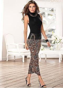 embellished leopard midi