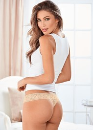 Back view Lace Thong 3 For $19