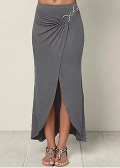 surplice maxi skirt