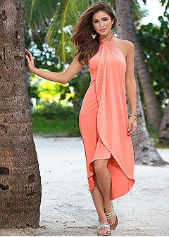 waterfall maxi dress