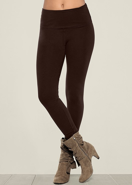 SLIMMING LEGGINGS,KNOTTED SLOUCHY BOOT